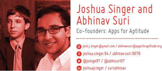 TEDxSanAntonio 2014 SpeakersJoshua- Singer and Abhinav Suri